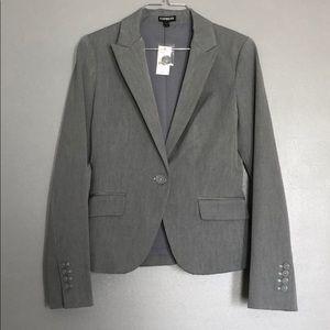Express Gray Suit Jacket NEW SZ2